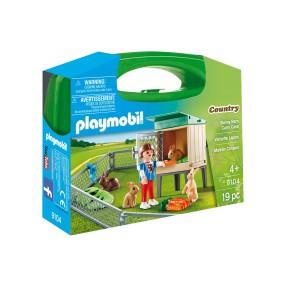 Playmobil - Skrzyneczka Wybieg dla królików 9104