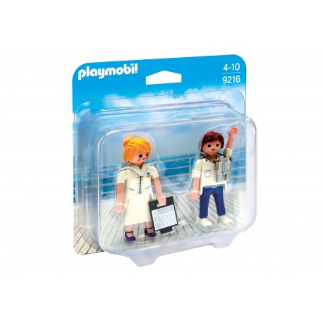 Playmobil - Duo Pack Stewardesa i oficer 9216