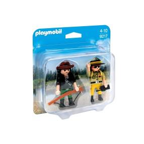 Playmobil - Duo Pack Strażnik i kłusownik 9217
