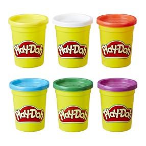 Play-Doh - Ciastolina Tuby podstawowe 6 szt. C3898