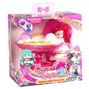 TM Toys - Cupcake Surprise Zestaw deser bananowy - sypialnia 2w1 Różowy 1138