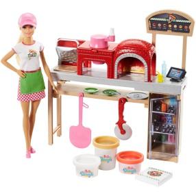 Barbie - Zestaw Pizzeria i lalka FHR09