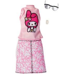 Barbie - Ubranka z ulubieńcami Hello Kitty dla lalki FKR69