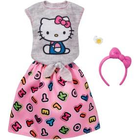 Barbie - Ubranka z ulubieńcami Hello Kitty dla lalki FKR68