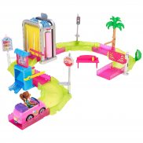 Barbie On The Go - Myjnia samochodowa zestaw + Lalka FHV91
