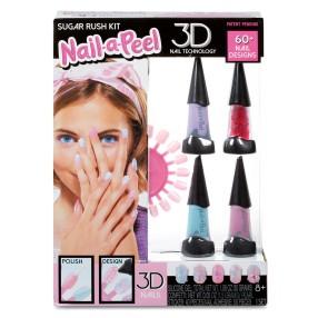 Nail-a-Peel - Zestaw tematyczny do paznokci 3D Sugar Rush 550143