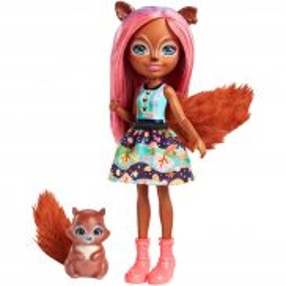 EnchanTimals - Lalka Sancha Squirrel + zwierzątko Stumper FMT61