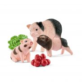 Schleich - Zestaw miniaturowych świnek - Mama i prosiaki 42422