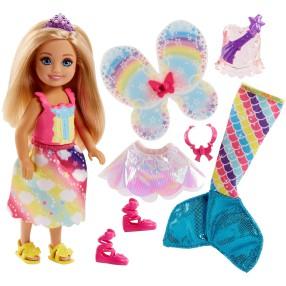 Barbie Dreamtopia - Kraina Tęczy Lalka Chelsea Baśniowa przemiana FJD00