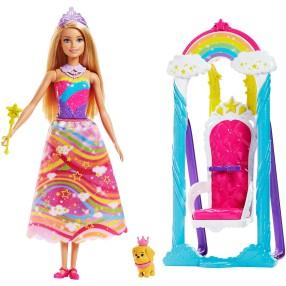 Barbie Dreamtopia - Huśtawka Księżniczki + Lalka FJD06