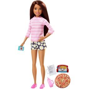 Barbie - Lalka Siostra Skipper Opiekunka dziecięca Zestaw Pizza FHY92