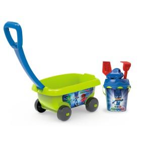Smoby - Wózek z wiaderkiem i akcesoriami do piasku Pidżamersi 867006