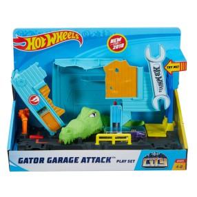 Hot Wheels City - Aligator w warsztacie FNB06