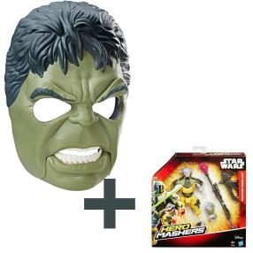 Hasbro Marvel - Ruchoma maska bohatera Hulk B9973 + Hero Mashers Star Wars - Figurka Garazeb Orrelios B3668