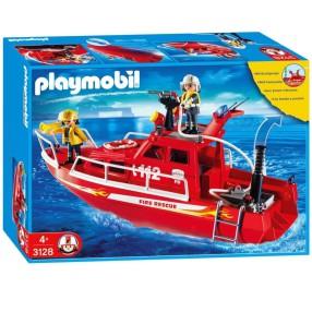 Playmobil - Łódź strażacka z armatką wodną 3128