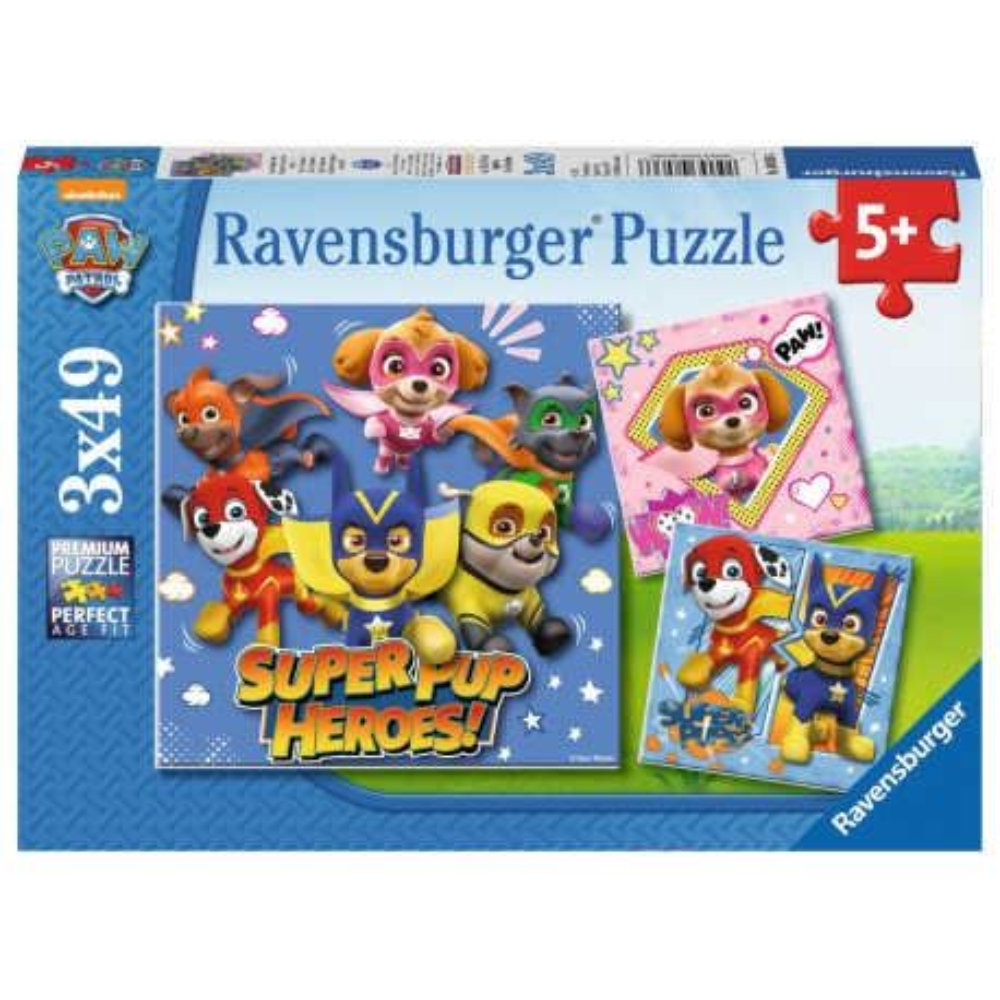 Ravensburger - Psi Patrol Superbohaterowie Puzzle 3 x 49 elem. 080366