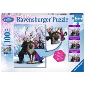 Ravensburger - Kraina Lodu Znajdź różnice Puzzle 100 elem. 105571