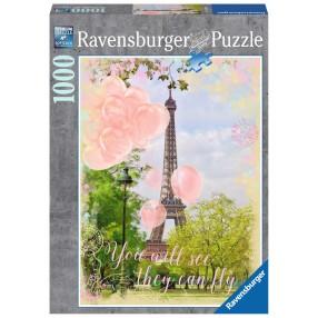 Ravensburger - Puzzle Widokówka z Paryża 1000 elem. 197088