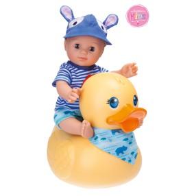 Schildkröt - Lalka Kids do kąpieli z dużą kaczką Chłopiec 30 cm 610300001