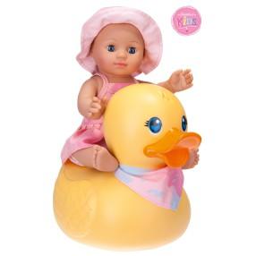 Schildkröt - Lalka Kids do kąpieli z dużą kaczką Dziewczynka 30 cm 610300002